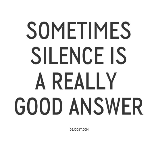 Put Some Silence into Your Life