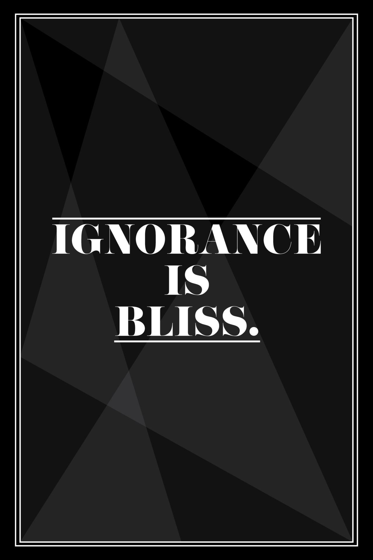 Is Ignorance Really Bliss?
