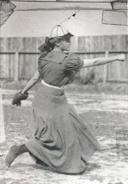 Alta Weiss- Female Baseball Pitcher