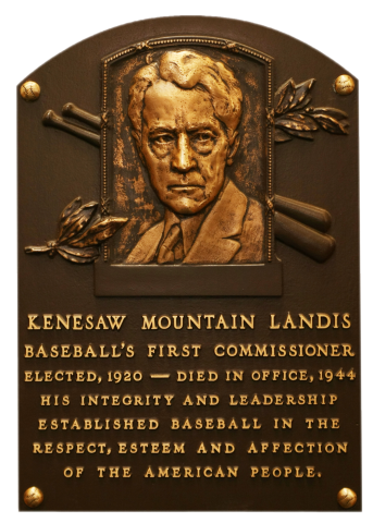 Part 1 of 6- First Commissioner of Baseball – Judge Kenesaw Mountain Landis