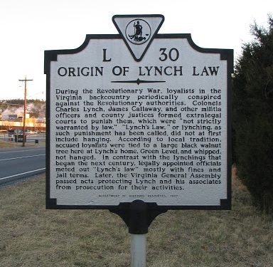 "Ancestral Stories-  Running Away and the ""Lynch Laws"""