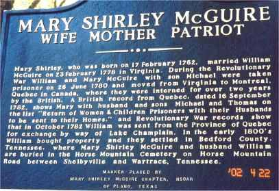 Ancestral Stories- Revolutionary War Lt Michael Shirley